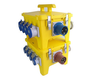China 24 Ways Heavy Duty PE Portable Distribution Box With Industrial Plugs And Sockets supplier