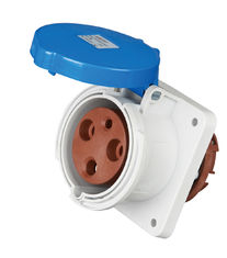 China Flush Mounted Industrial Plug Sockets IP44 Rain Resistance Material supplier