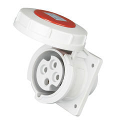 China Red Cover Industrial Plug Sockets 32Amp Rated Current Nylon Material supplier