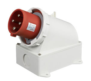 China Weatherable 4 Pin 3 Phase Plug , Red 4 Pin Waterproof Electrical Connectors supplier
