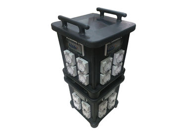 China 63 AMP Portable Industrial Socket Box With Protection And Inner Wiring Audio Live Use Control System IP66 Stackable supplier
