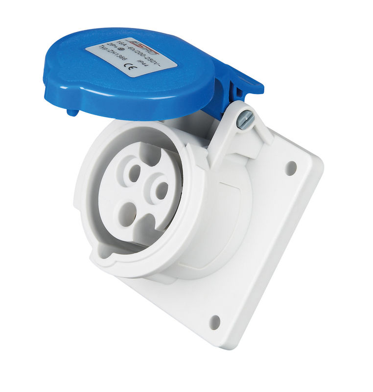 Straight 3 Pin Industrial Socket Outlet 230 Volts 16 Amps Standard ...