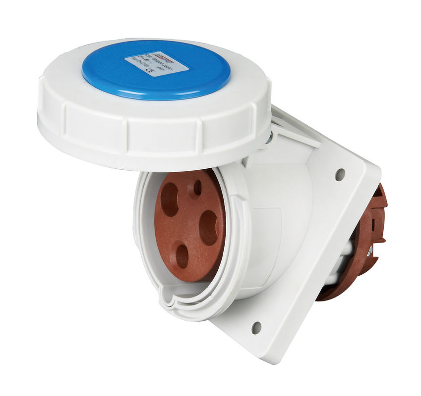IP67 Weatherproof 3 Phase Industrial Socket 3 Pins 63Amp Rated Current