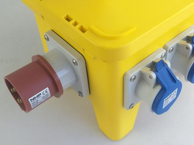 64A 250 Volts Temporary Power Distribution Box High Strength Material