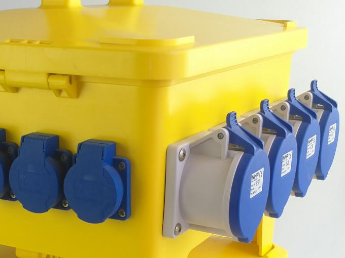 24 Ways Heavy Duty PE Portable Distribution Box With Industrial Plugs And Sockets