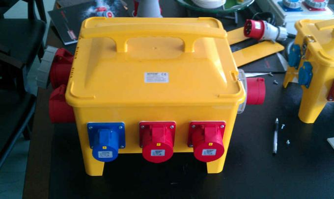 Waterproof Portable Distribution Box With Plug Socket 370 * 340 * 330mm Size