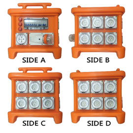 MK1 Portable Power Distribution System Rubber Box Orange Outdoor Distribution Board Stackable
